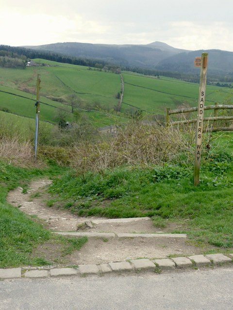 The top of Saddler's Way at Tegg's Nose