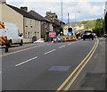 ST2788 : Cefn Road roadworks, Rogerstone by Jaggery
