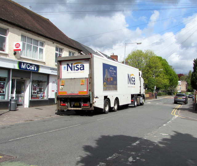 Nisa lorry outside McColl's convenience store, Rogerstone
