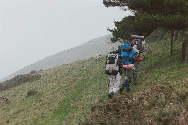 Offa's Dyke  path approaching Cwm-sanahan Hill