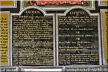 SS6744 : Parracombe, St. Petrock's Church: The Word of Reformation, ten commandments by Michael Garlick