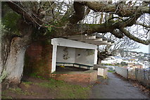 SX9676 : Shelter by South West Coast Path by N Chadwick
