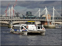TQ3080 : River cruise catamaran near Hungerford Bridge by Rudi Winter