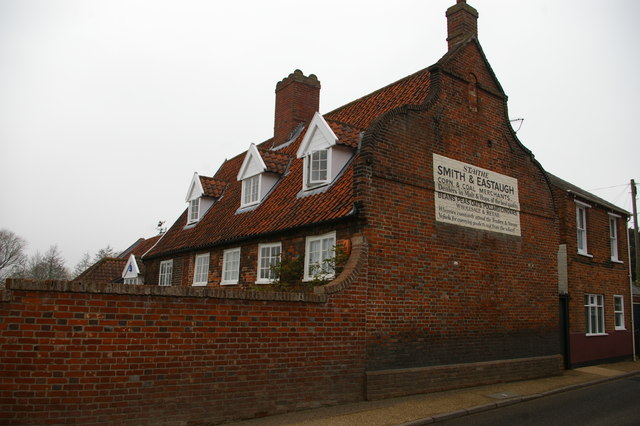 House with ghost-sign, Northgate, Beccles