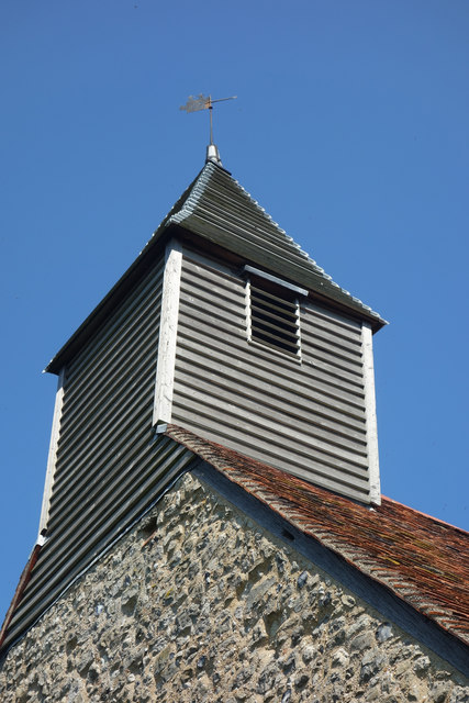 Weatherboarded bell turret, All Saints Church, Vange