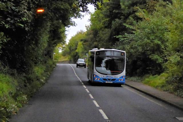 Ulsterbus on the A2 near Magheramorne