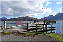 NG5534 : East Suisnish Pier by Anne Burgess