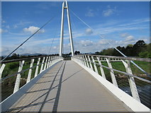 SO8453 : Footbridge Over The Severn at Diglis by Roy Hughes