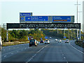 J3479 : M2 Motorway at Junction 2 by David Dixon