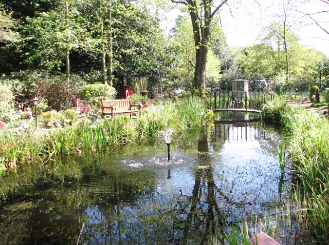 Small pond in the gardens of remembrance