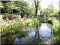 TG2108 : Small pond in the gardens of remembrance by Evelyn Simak