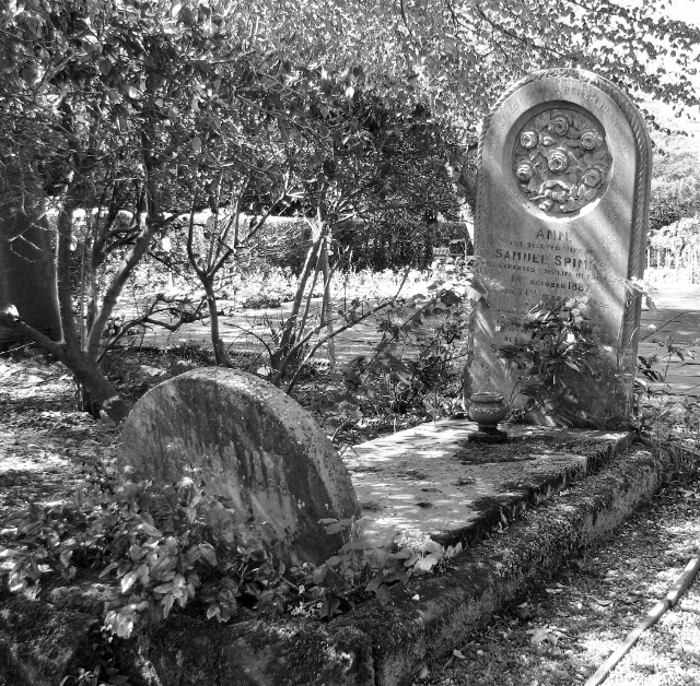 The grave of Ann and Samuel Spinks
