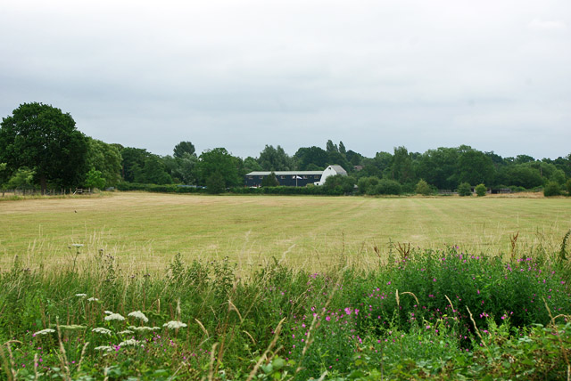 View across field to King's Mill