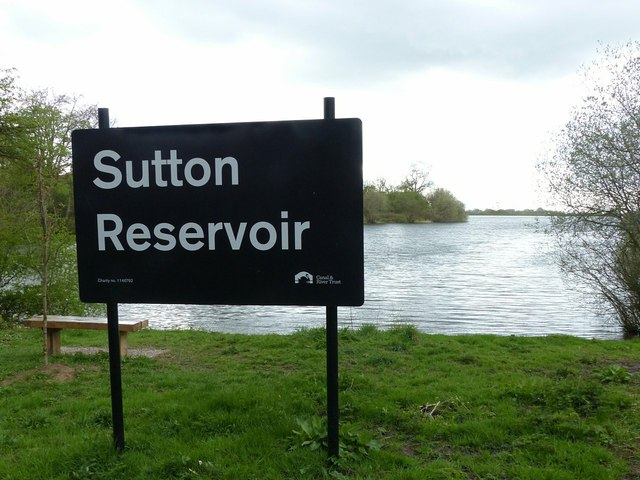 Sutton Reservoir sign