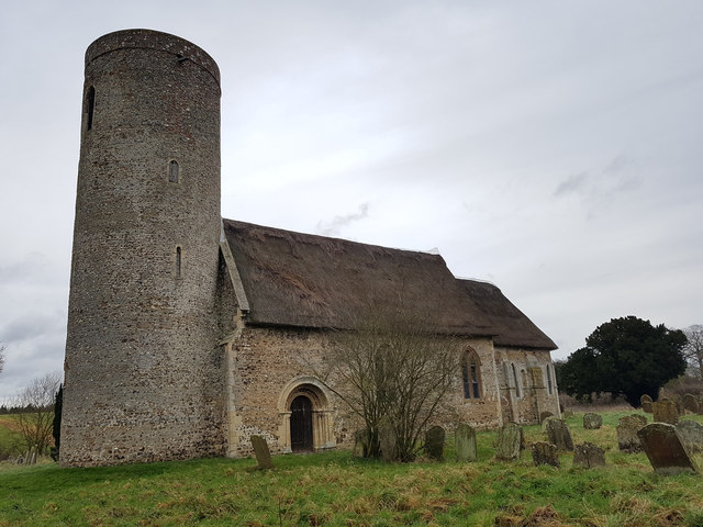 Rear view of St Margaret's Church, Hales