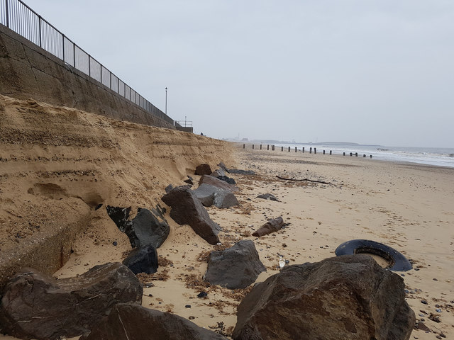 Gorleston beach after 'The Beast from the East'