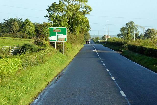 Larne Road (A2) near Ballycarry