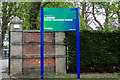 TG5000 : Lound Water Treatment Works sign by Adrian Cable