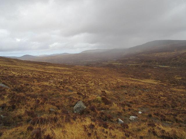 Above the Abhainn Mhor Ceann Reasoirt