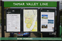 SX4563 : Posters at Bere Ferrers Station by Stephen McKay