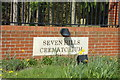 TM2241 : Seven Hills Crematorium sign by Adrian Cable
