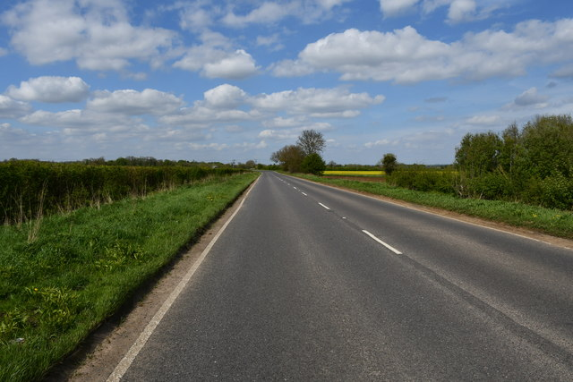 Scawby Road towards Brigg