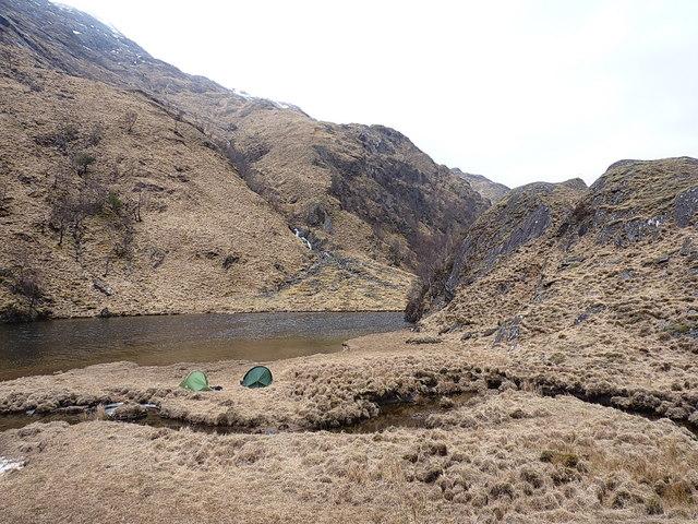 Campsite by Lochan nam Breac