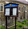 SM9537 : St Mary's Church noticeboard, Fishguard by Jaggery