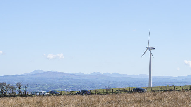 Wind turbine near Divis