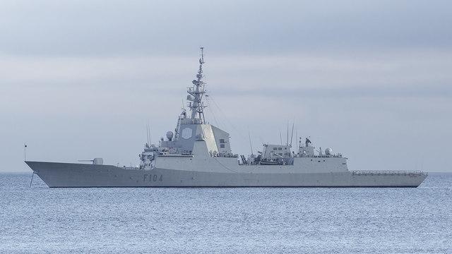 Frigate off Bangor