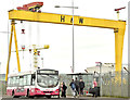 J3575 : Metro bus, Titanic Quarter, Belfast (May 2018) by Albert Bridge