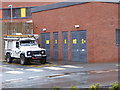 SO8754 : Worcestershire Royal Hospital - power company Land Rover by Chris Allen