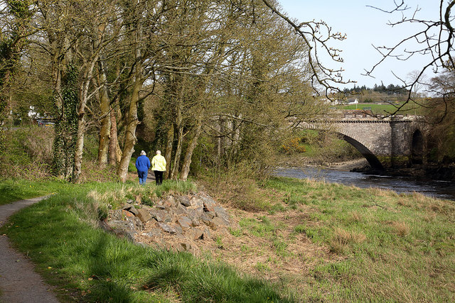 A riverside path at Tongland Bridge