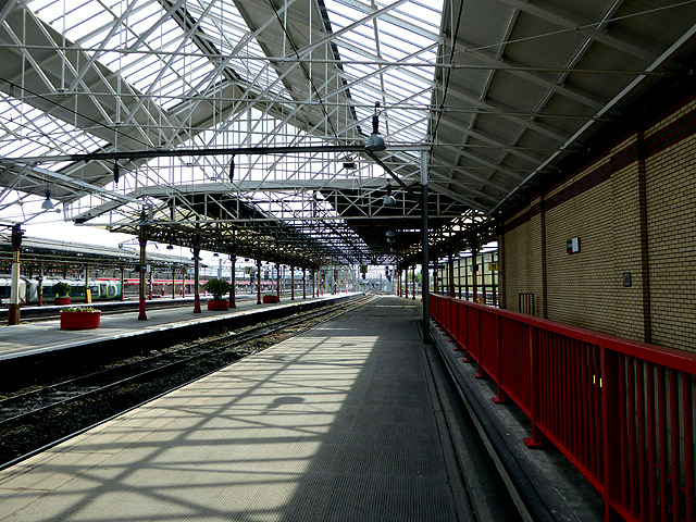 8d6778e9d2 Light and shade at Crewe station © John Lucas    Geograph Britain ...