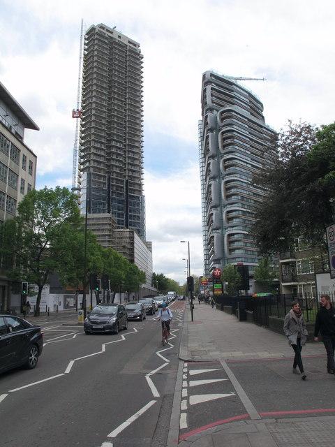 Tower blocks on City Road, Islington