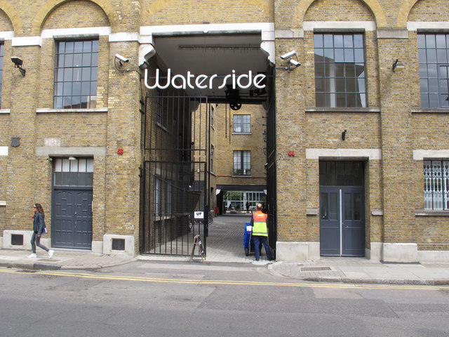 Arch entrance to Waterside, Wharf Road, Hackney