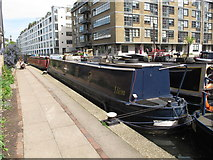 "TQ3283 : ""Ilion"", narrowboat on Regent's Canal, Hackney by David Hawgood"