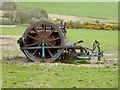 NU0118 : Farm machinery at Reaveley Greens Farm by Oliver Dixon