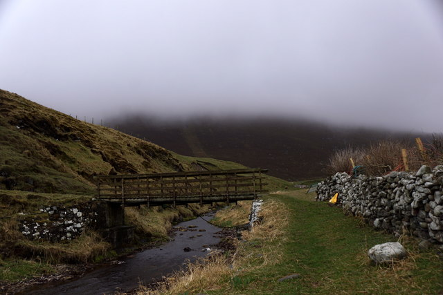 The footbridge at Ham Yard, Foula