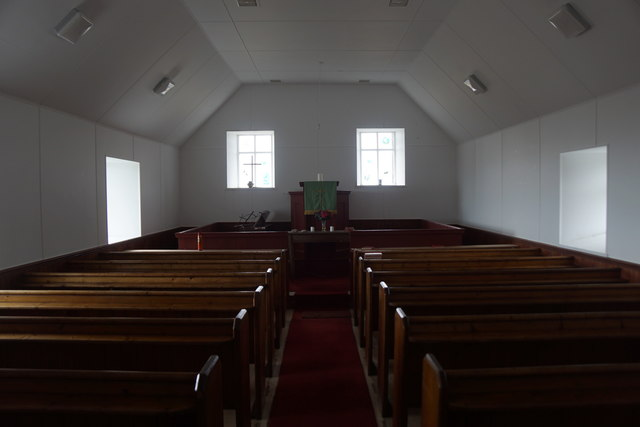 Inside the Foula chapel