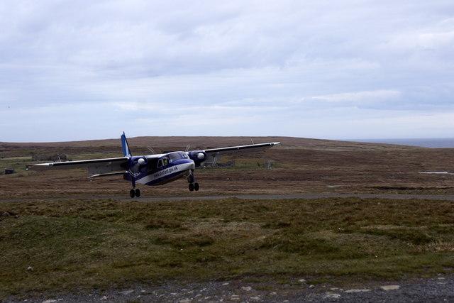 Touchdown, Foula airstrip