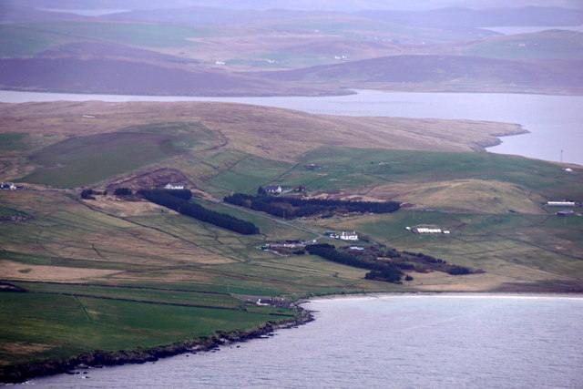 Gairdens o' Sand, from the air