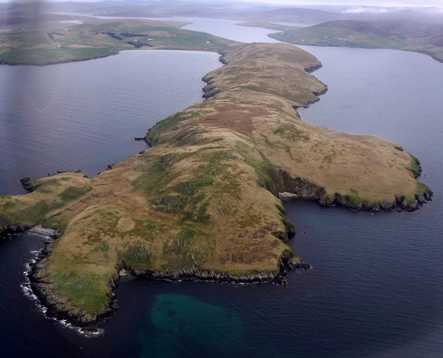Fora Ness, from the air