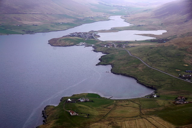 Weisdale Voe, from the air