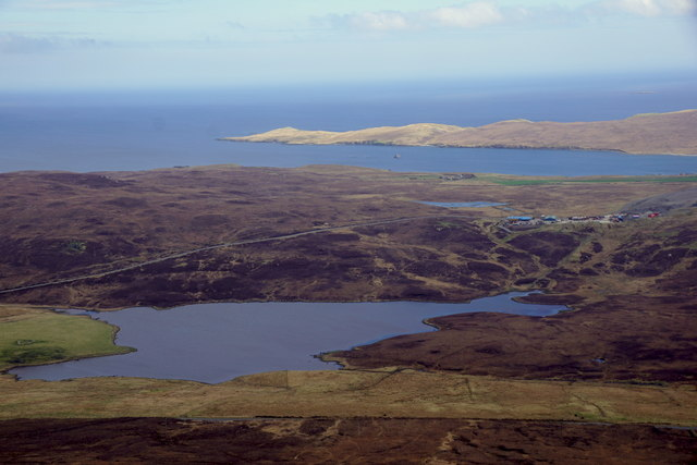 Loch of Vatster, from the air