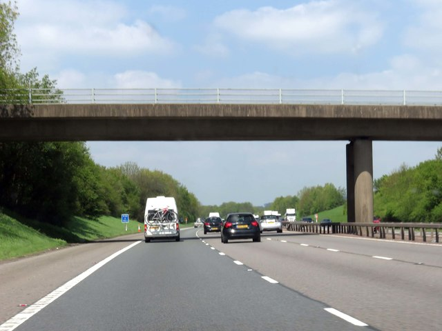 The M40 runs under March Road