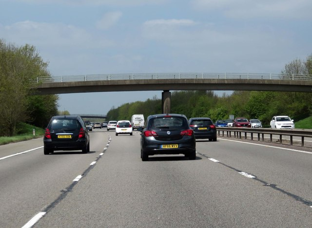 The M40 runs under a minor road
