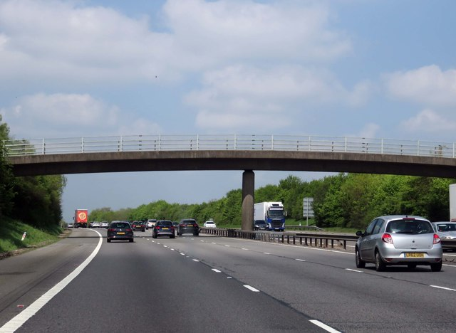 The M40 runs under a minor road