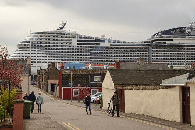 MSC Meraviglia on Maiden Visit to Invergordon Port, Scotland