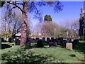 SN0215 : St John's Church, Slebech - now closed - new graves by welshbabe
